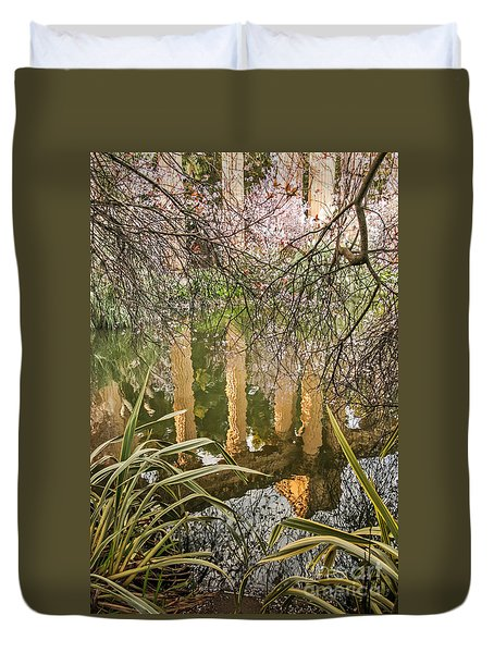 Duvet Cover featuring the photograph Palace Grounds 2007 by Kate Brown