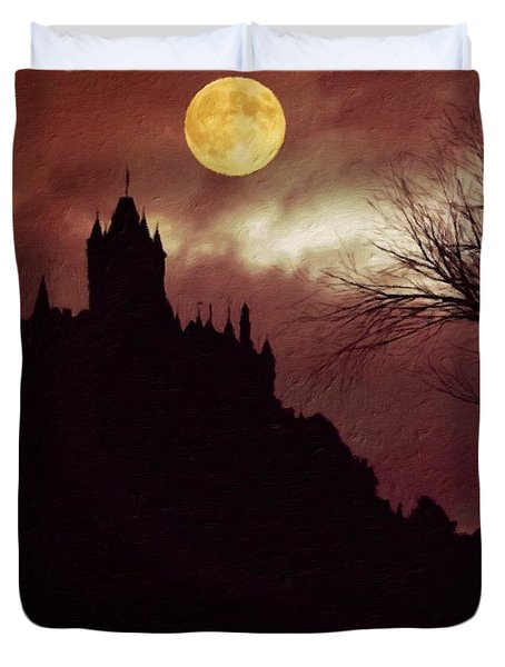 Palace Of Dracula By Sarah Kirk Duvet Cover