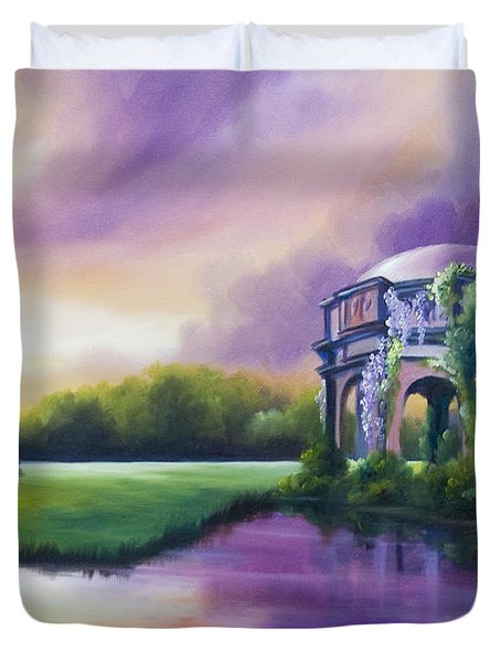Palace Of The Arts Duvet Cover by James Christopher Hill