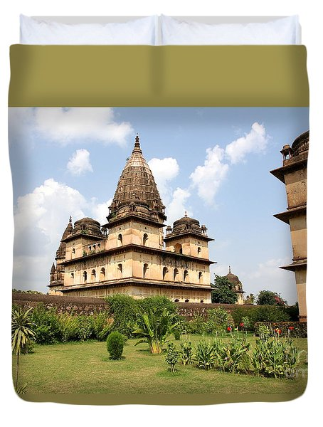 Palaces In Orccha Central India Duvet Cover