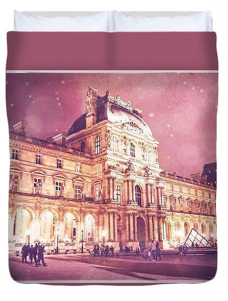 Palais Du Louvre En Rose Duvet Cover by Aurella FollowMyFrench