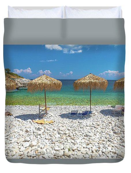 Palapa Umbrellas Duvet Cover