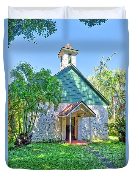 Duvet Cover featuring the photograph Palapala Ho'omau Congregational Church by Jim Thompson