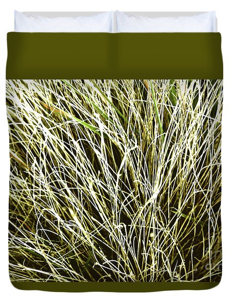 Pale Grasses Duvet Cover