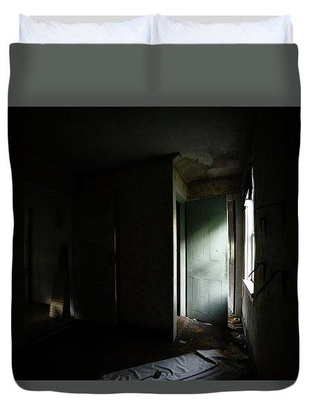 Pale Green Door Duvet Cover