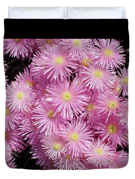 Pale Pink Flowers Duvet Cover