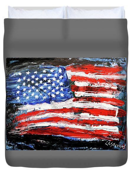 Palette Of Our Founding Principles Duvet Cover