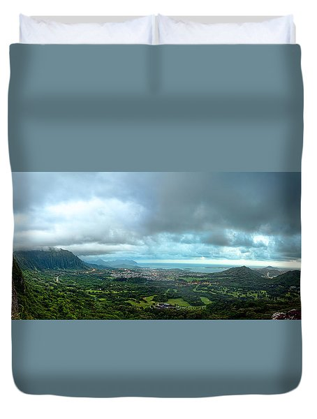 Pali Lookout Dawn Duvet Cover