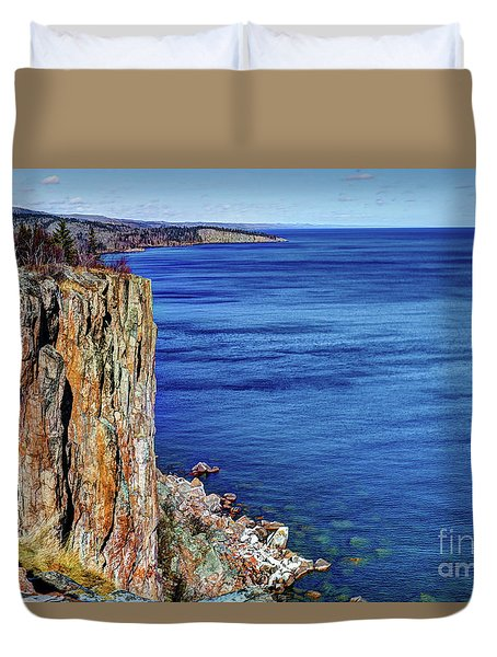 Palisade Head Tettegouche State Park North Shore Lake Superior Mn Duvet Cover