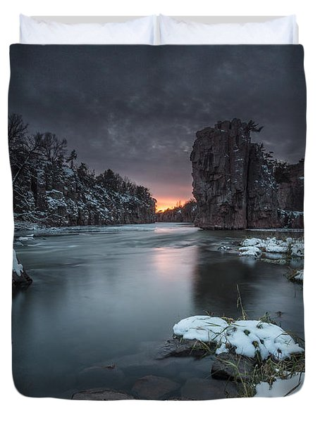 Palisades First Snow Duvet Cover