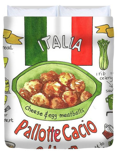 Pallotte Cacio Duvet Cover