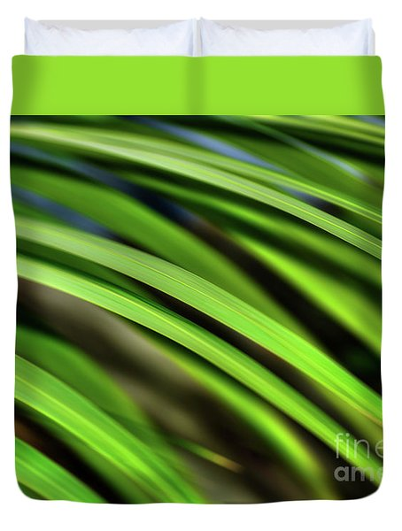 Duvet Cover featuring the photograph Palm Abstract By Kaye Menner by Kaye Menner