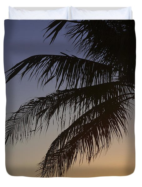 Palm At Sunset Duvet Cover by Brandon Tabiolo - Printscapes