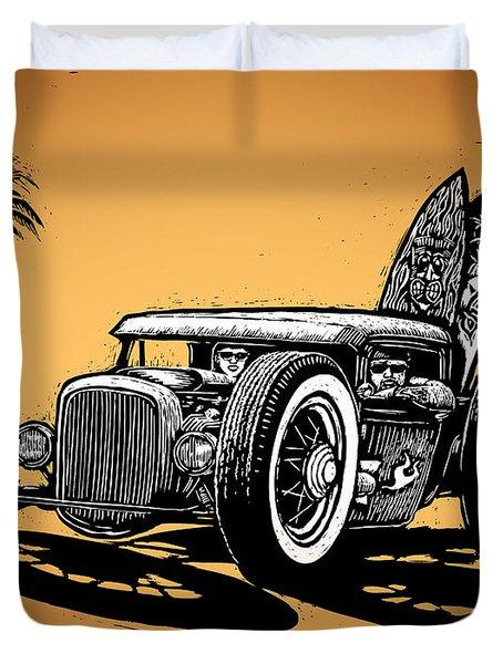 Palm Beach Duvet Cover by Bomonster