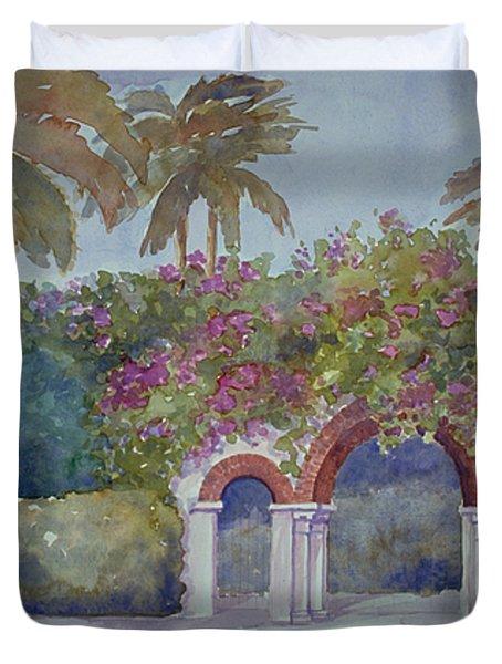 Palm Beach Gates Duvet Cover