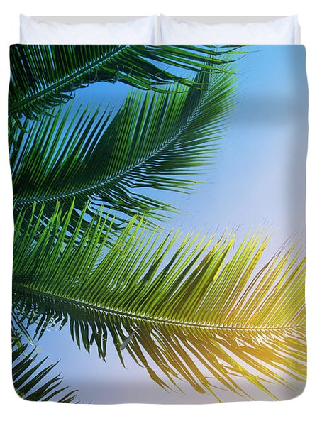 Palm Branches Duvet Cover