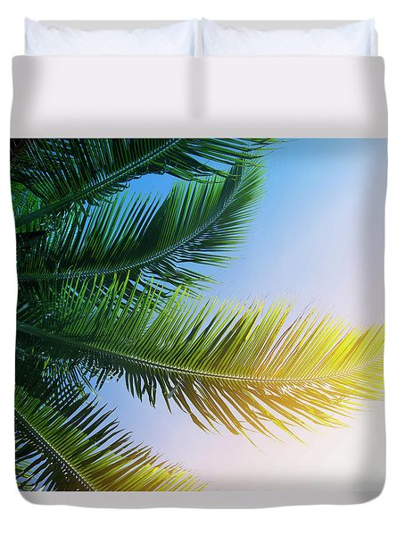Duvet Cover featuring the photograph Palm Branches by Jocelyn Friis