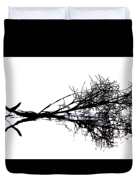 Palm Branch At The Beach Duvet Cover