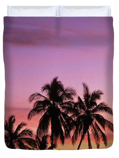 Palm Cluster Duvet Cover by Allan Seiden - Printscapes