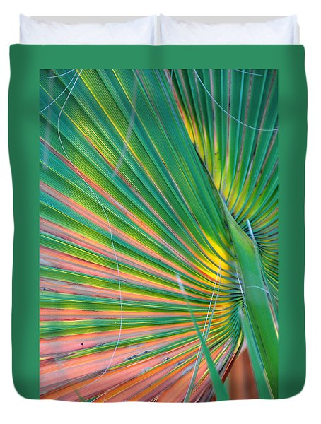 Palm Colors Duvet Cover
