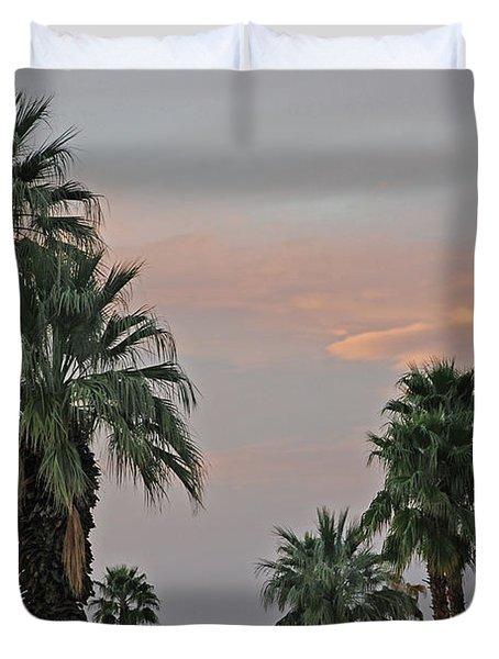 Palm Desert Sunset  Duvet Cover