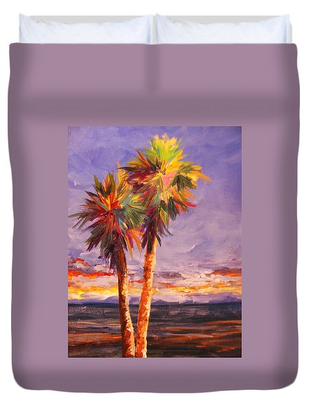 Palm Duo Duvet Cover