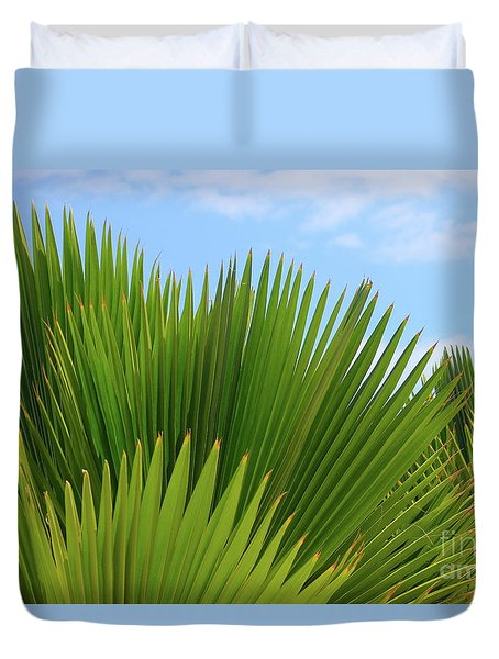 Palm Fans Duvet Cover by The Art of Alice Terrill