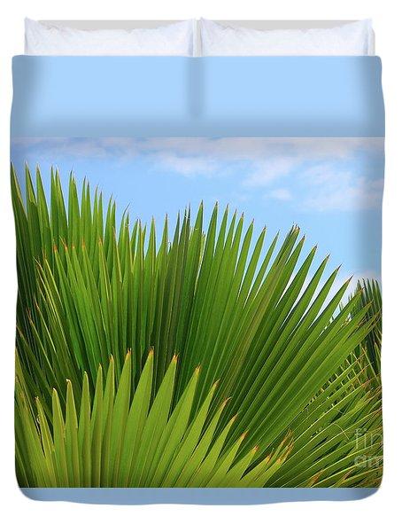 Palm Fans Duvet Cover
