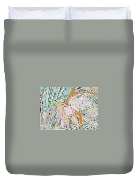 Palm Flowers Duvet Cover