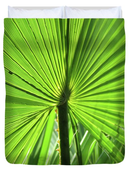 Palm Frond Duvet Cover