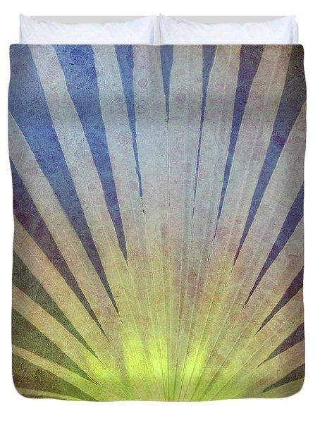 Palm Frond Light Duvet Cover