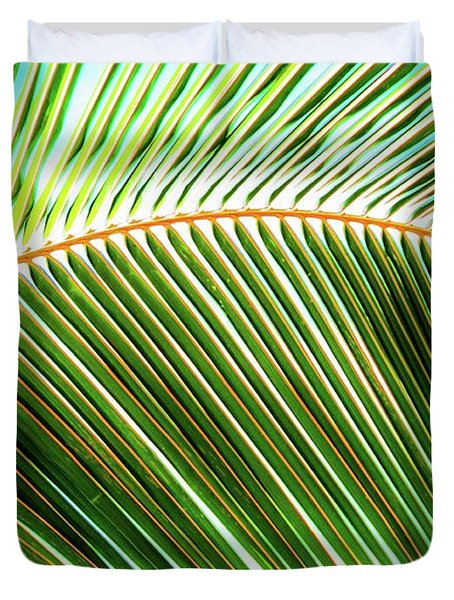 Palm Frond Sway Duvet Cover