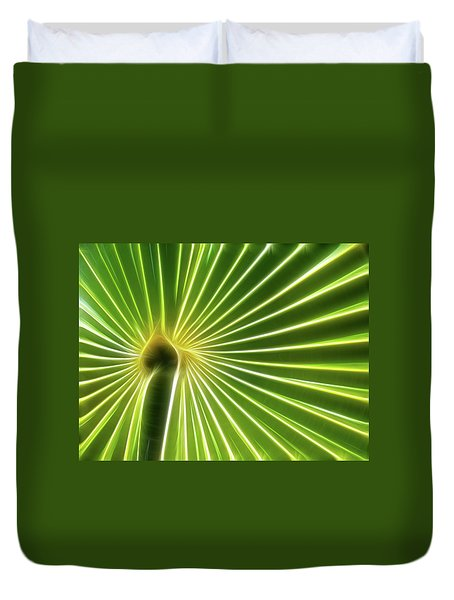 Palm Glow Duvet Cover