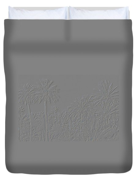 Palm Grove Duvet Cover by Tetyana Kokhanets