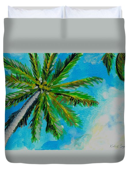 Palm In The Sky Duvet Cover