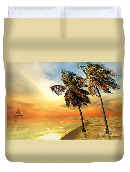 Palm Island Duvet Cover by Corey Ford