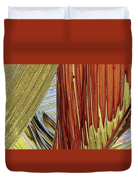 Duvet Cover featuring the photograph Palm Leaf Abstract by Ben and Raisa Gertsberg