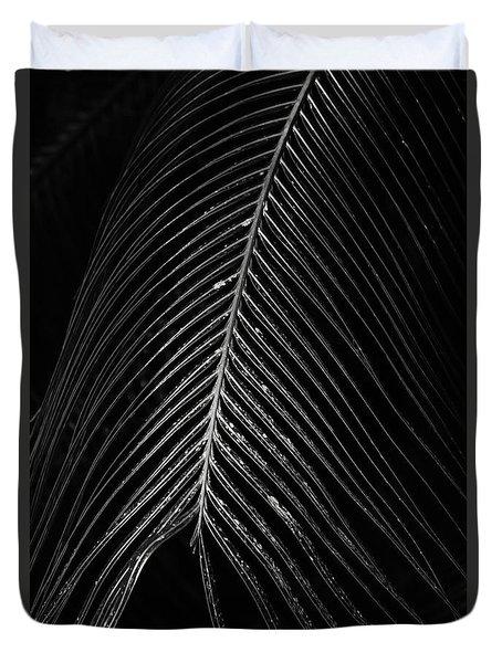 Duvet Cover featuring the photograph Palm Leaf by Deborah Benoit