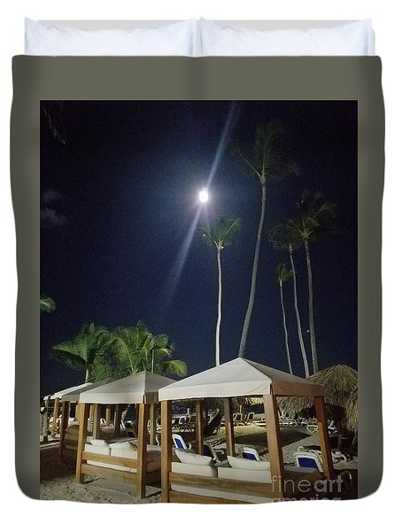 Palm Moon Duvet Cover