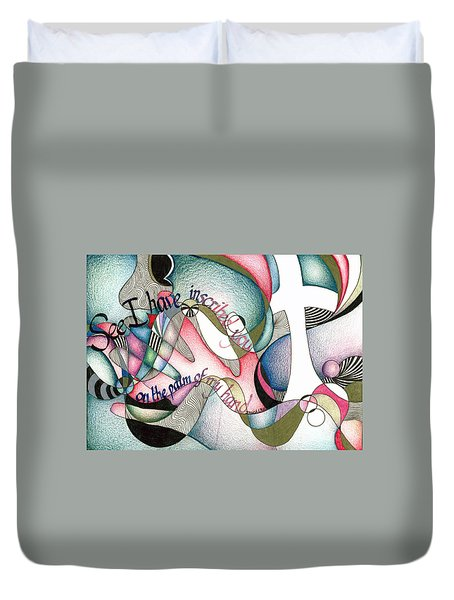 Palm Of My Hand Duvet Cover by Amanda Patrick