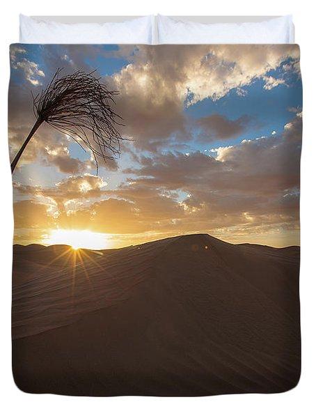 Palm On Dune Duvet Cover