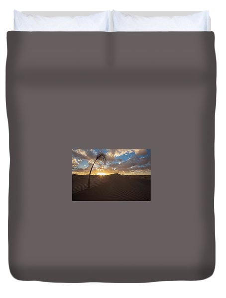 Palm On Dune Duvet Cover