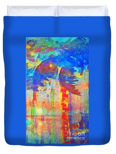 Palm Party Duvet Cover