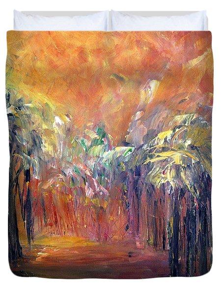 Palm Passage Duvet Cover