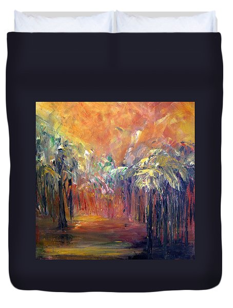 Palm Passage Duvet Cover