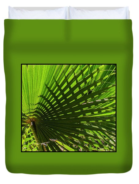Duvet Cover featuring the photograph Palm Pattern No.1 by Mark Myhaver