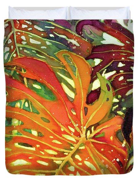 Palm Patterns 2 Duvet Cover by Deborah Younglao