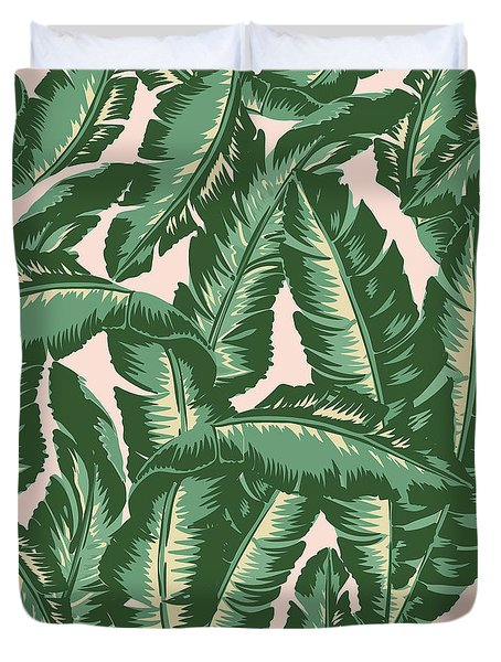 Palm Print Duvet Cover by Lauren Amelia Hughes