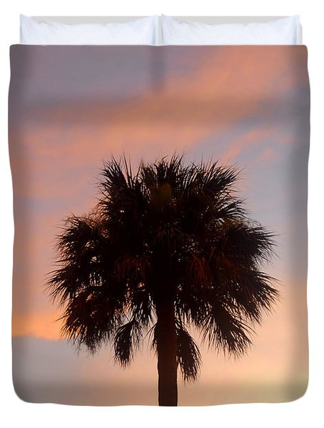 Palm Sky Duvet Cover by David Lee Thompson