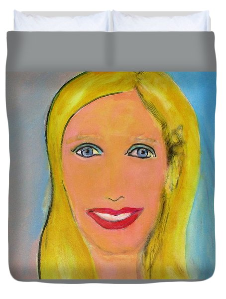 Palm Springs Doll Duvet Cover